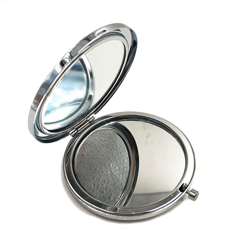 Compact Mirror Beauty Small Mirror Unique Gifts for Women Luxury Gifts Magnifying Makeup Handbag Mirror Double Sizes Ceramic Chinese Traditional Design Travel Purse Mirror Blue and White Porcelain