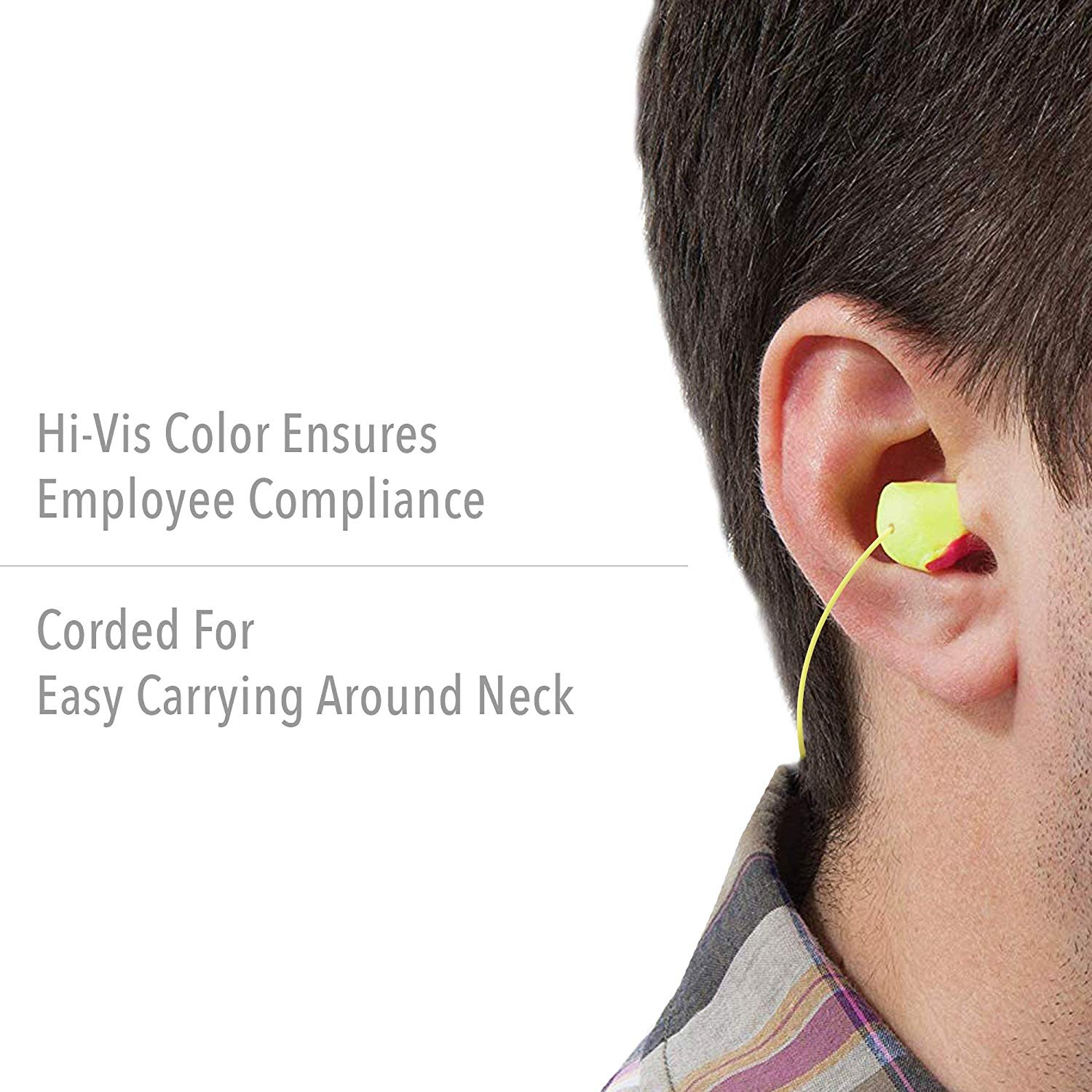 Contains 10 Single Bags Howard Leight by Honeywell Laser Lite High Visibility Disposable Foam Earplugs,