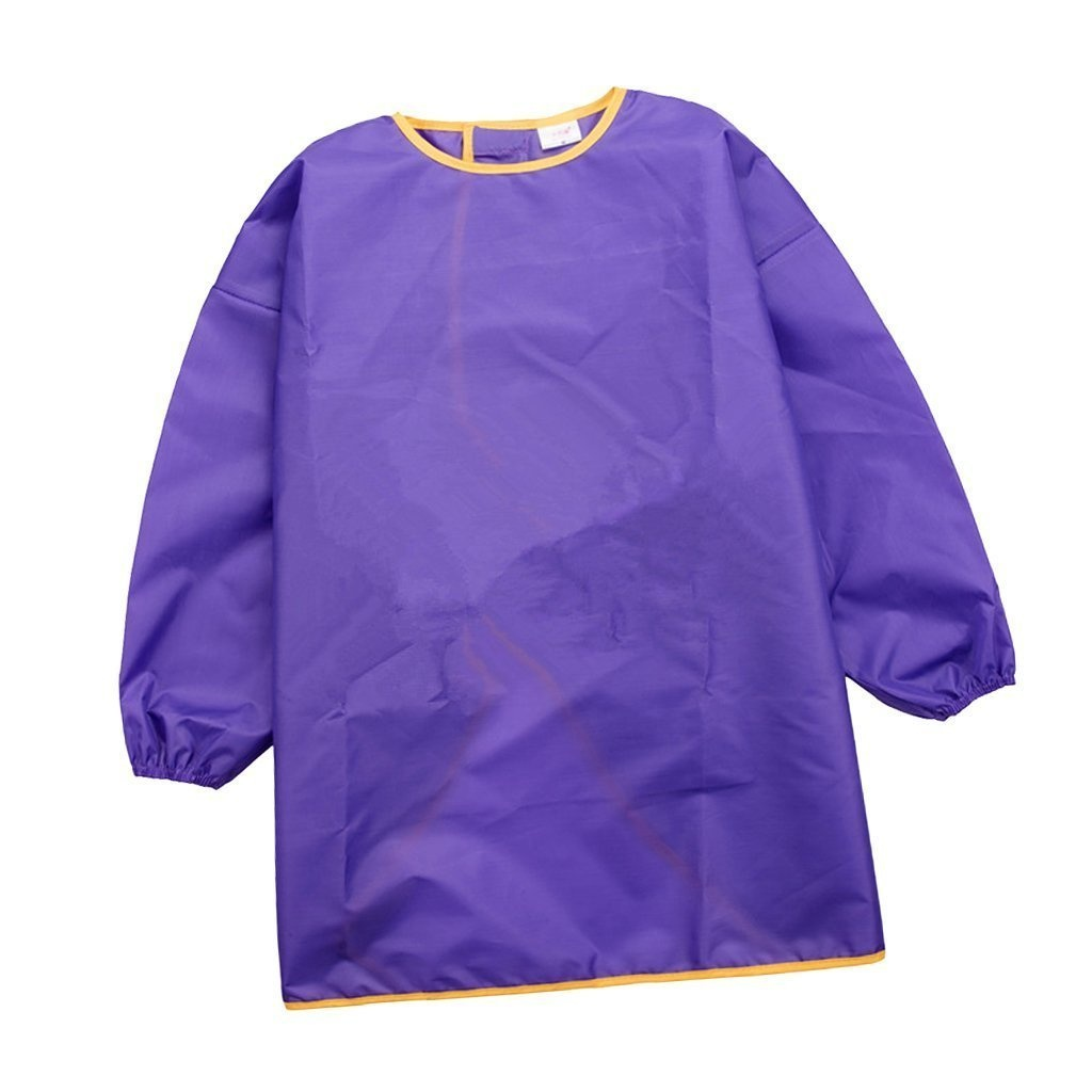Yundxi Kids Art Smock Children Waterproof Painting Aprons Long Sleeve with Pocket