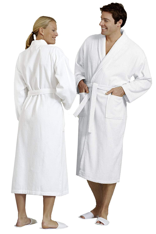 ZOLLNER Dressing Gown for Men and Women White Cotton 020