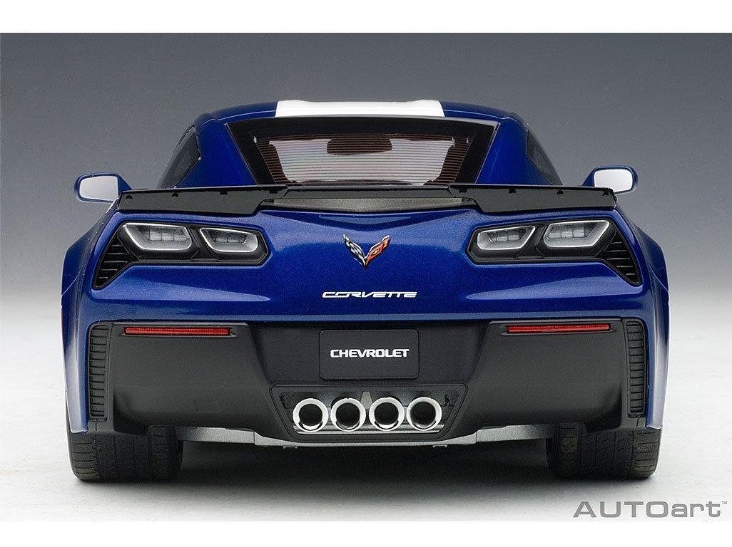 Blue Autoart 71275-1//18 Chevrolet Corvette C7 Grand Sport White Stripes