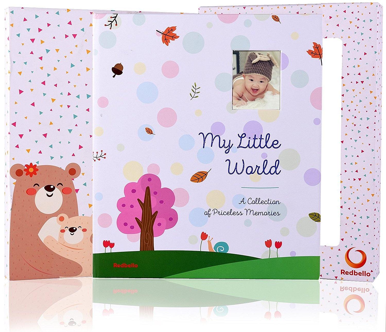 Photo Keepsake to Record Milestones /& Firsts Unisex Baby Memory Book