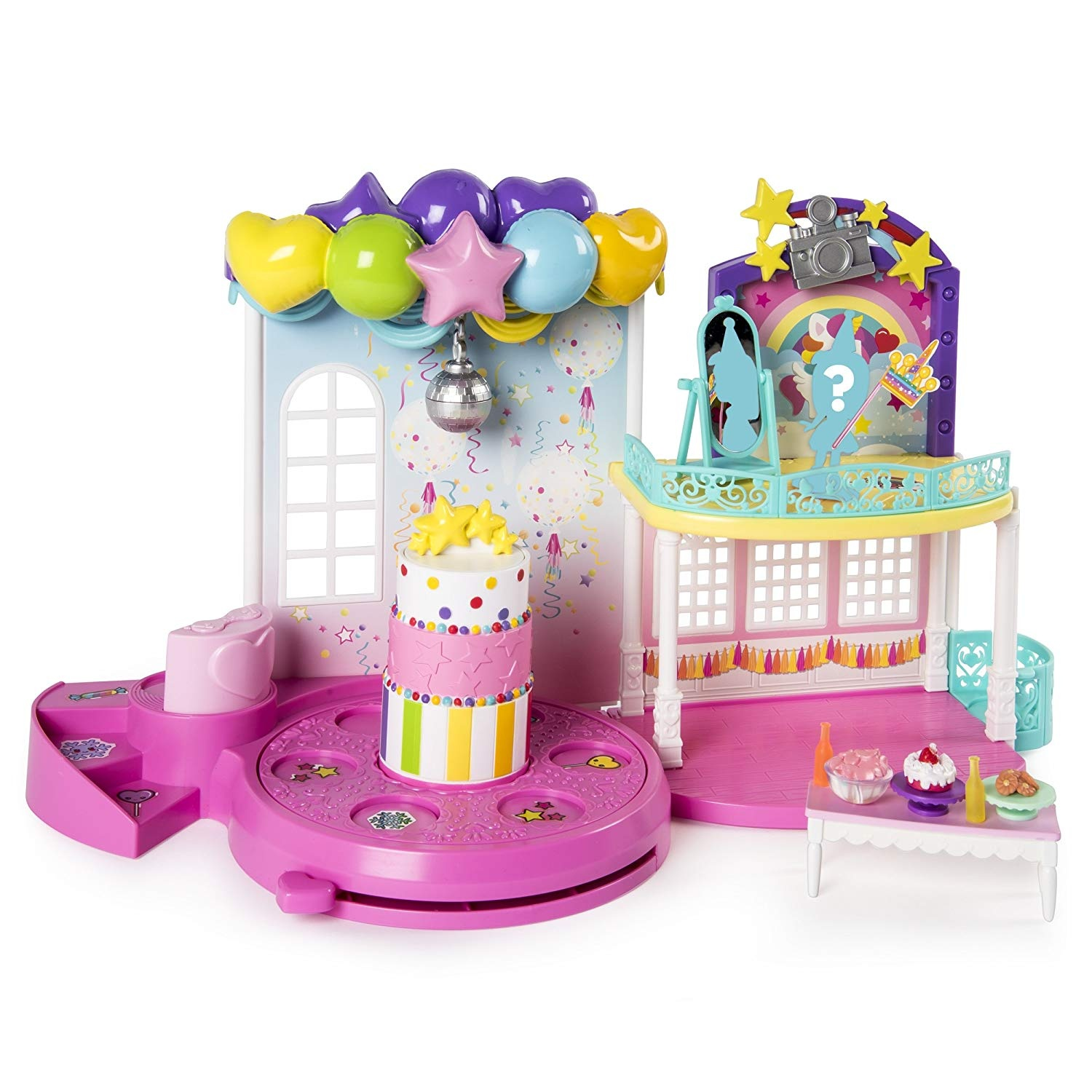 Party Popteenies Exclusive Collectible Mini Doll and Accessories Poptastic Party Playset with Confetti for Ages 4 and Up