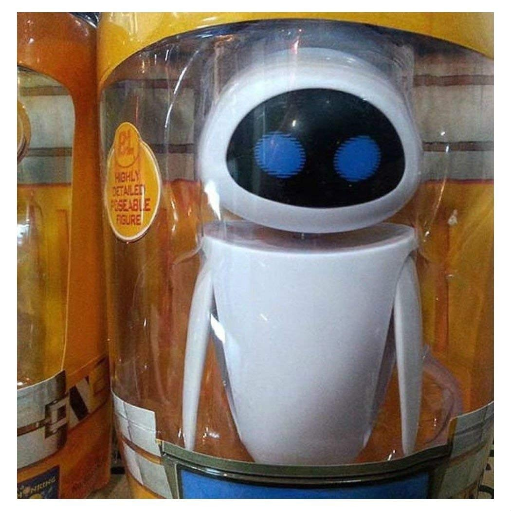 New in Box Set of 2 pcs Mini Disney Pixar Wall-E and Eee-Vah EVE Action Figures
