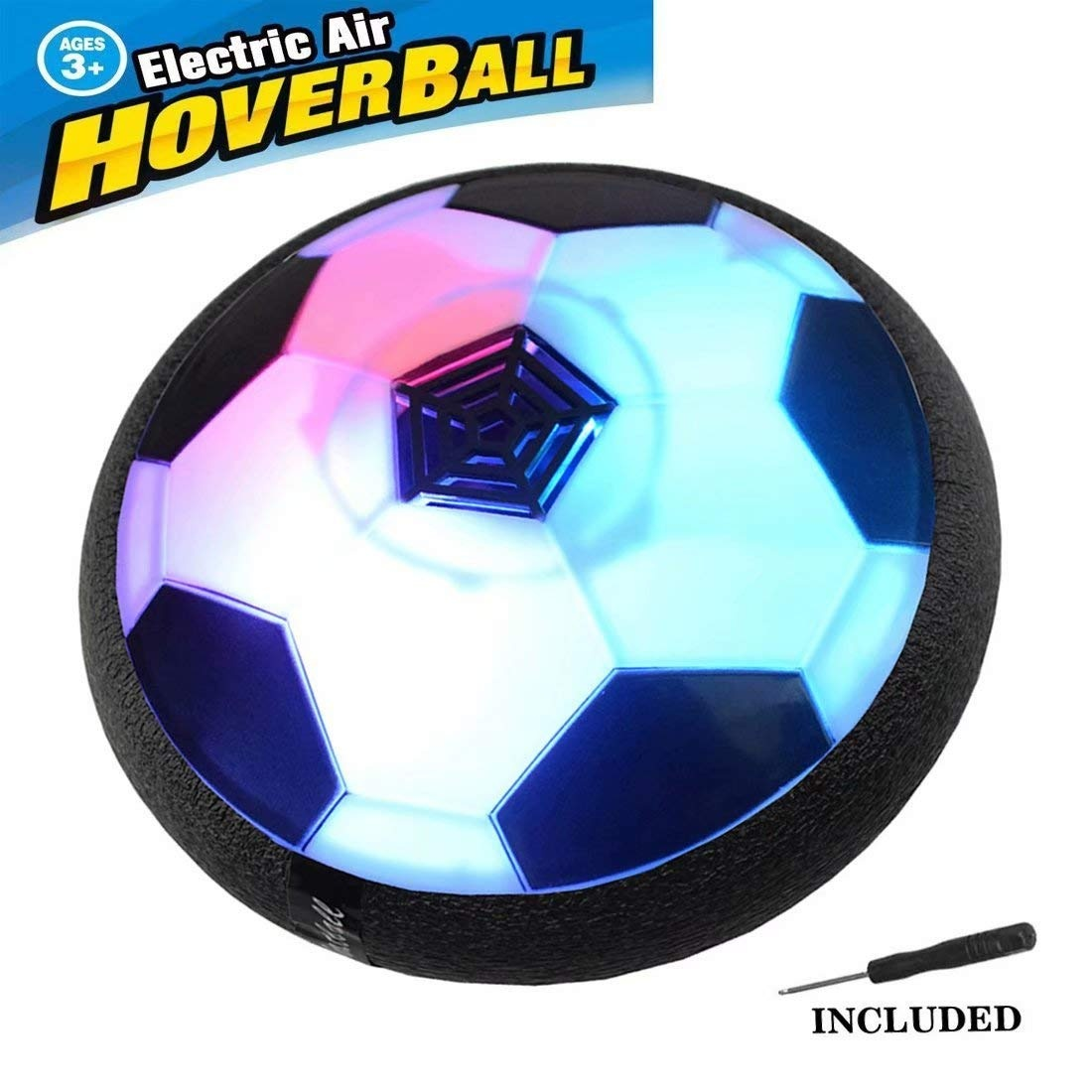 OMG-Kids Toys Hover Soccer Ball Air Soccer with Led Light Excellent Time Killer for Boys//Girls Hovering Soccer Ball with Foam Bumper for Indoor Games
