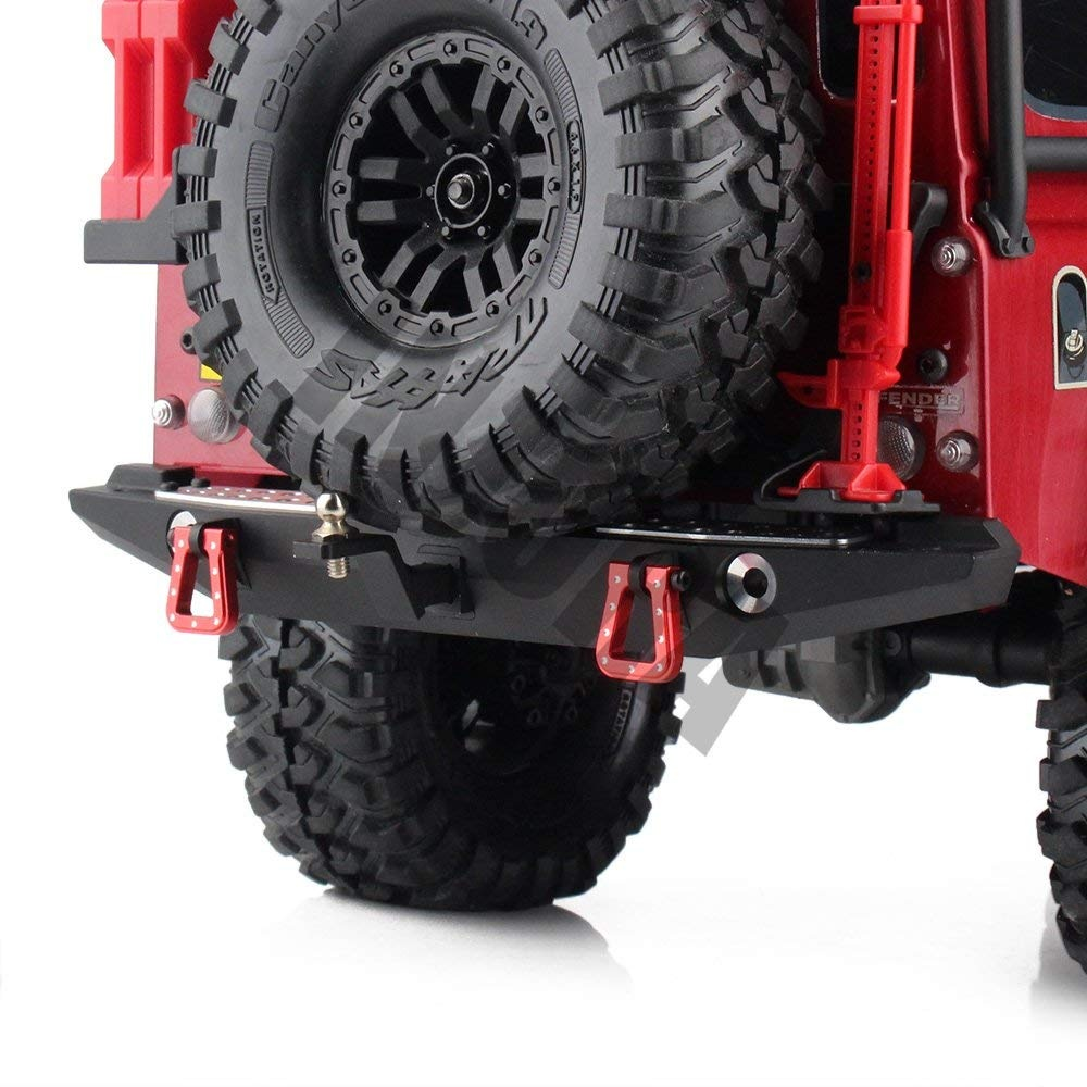 INJORA Metal Rear Bumper with Led Light for TRAXXAS TRX4 Axial SCX10 90046