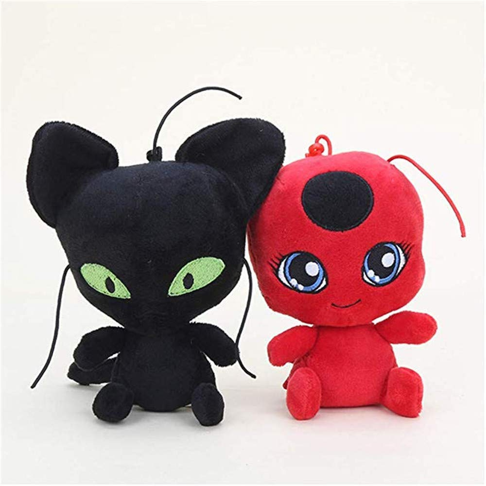 25cm NEW Miraculous Ladybug Plush Doll Adrien Cat Noir Marinette Plagg Tikki Toy