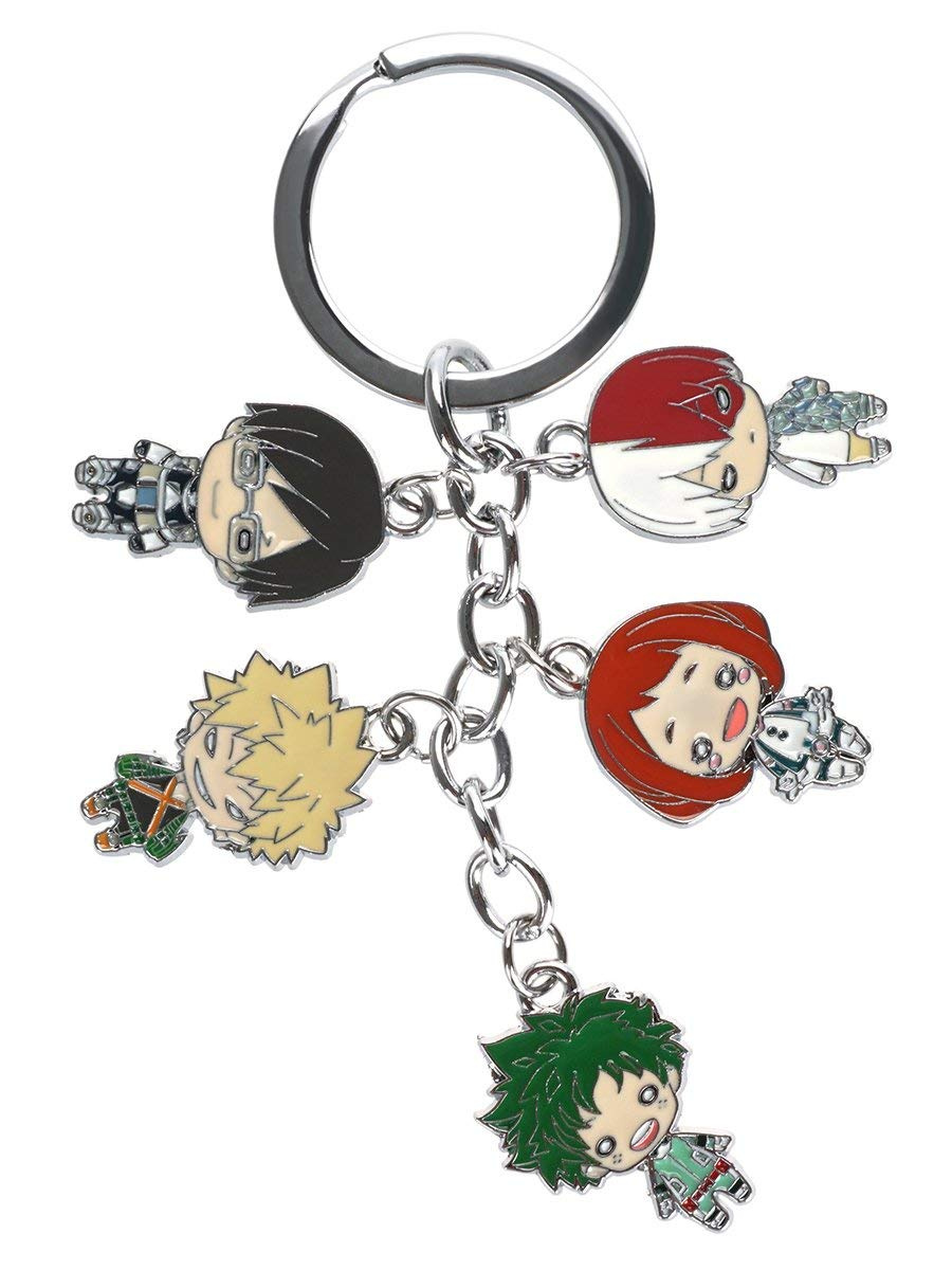 Coolchange My Hero Academia Keyring With 5 Chibi Figures By Coolchange Shop Online For Toys In New Zealand