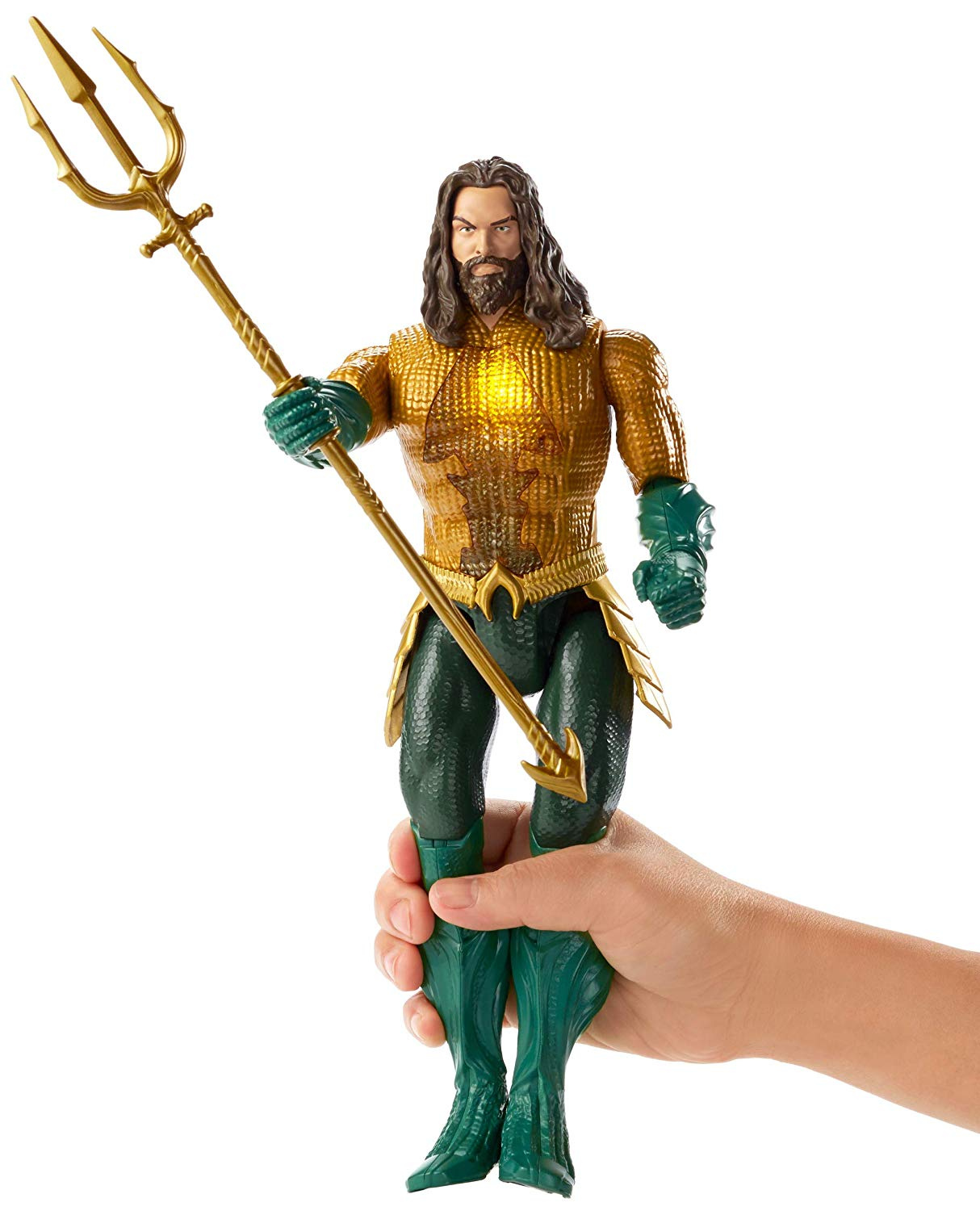 DC Aquaman Deluxe Trident Roleplay Toy w// Movie Sounds And Phrases