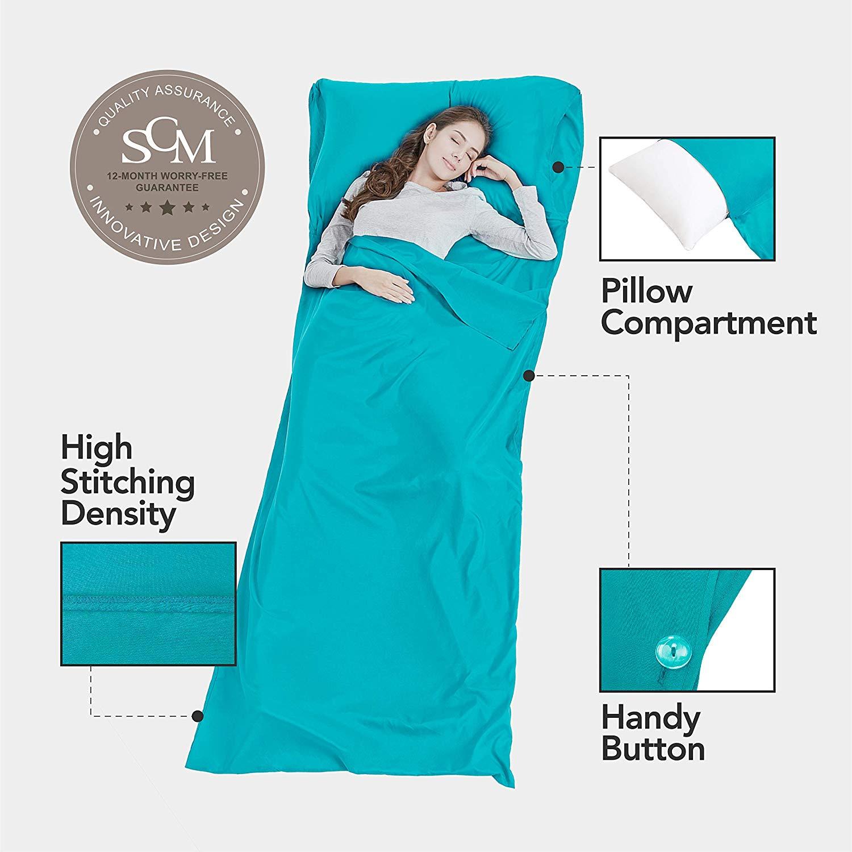 OverSize Silk Soft Sleeping Bag Liner Lightweight Travel Sheet Camping Sleep *