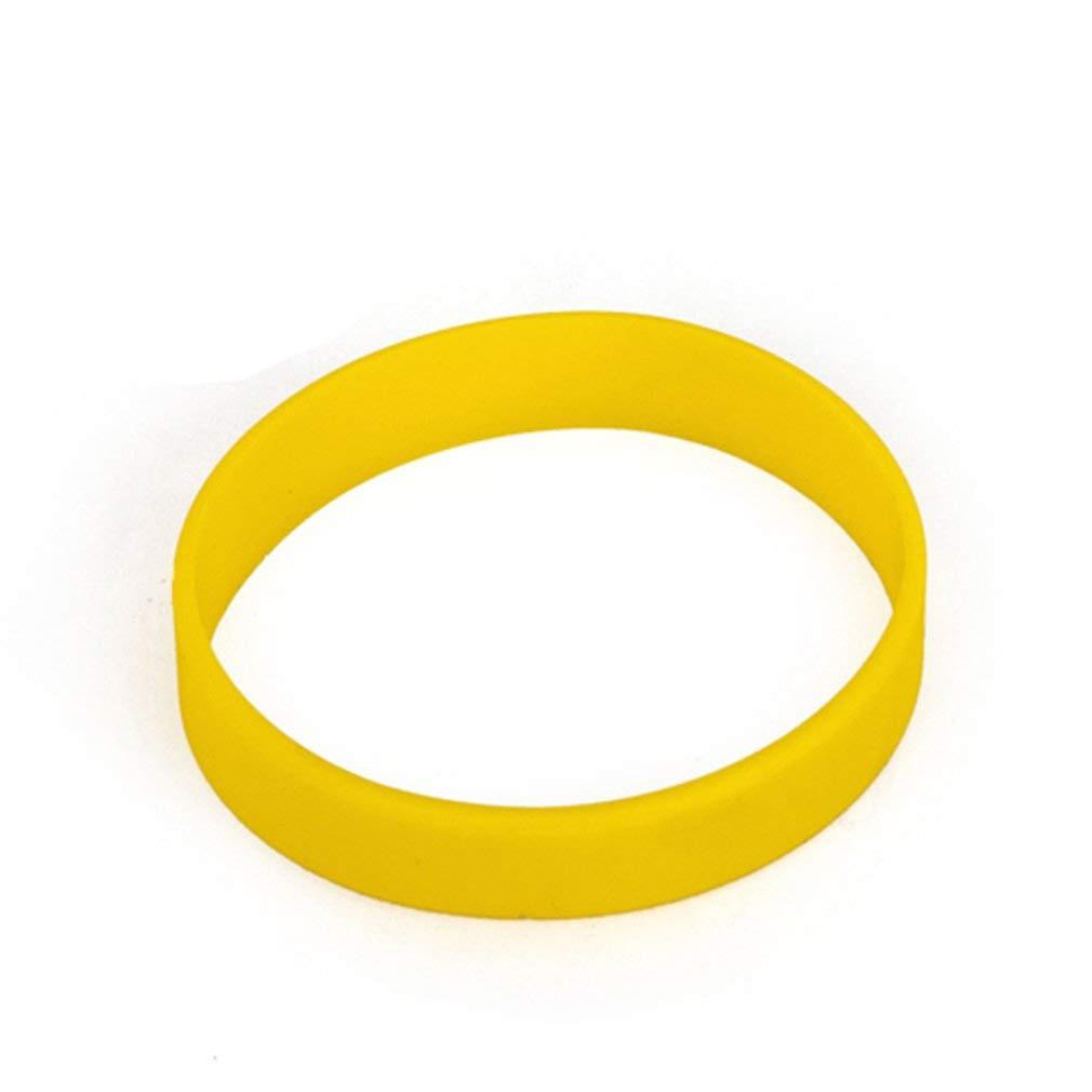 10pcs Hoerev Blank Silicone Charity Wristbands Bracelets Rubber Sport Cuff Wristband