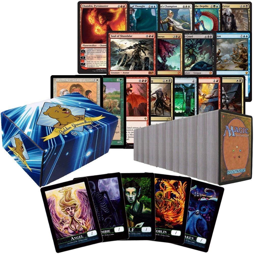 Includes Golden Groundhog Storage Box! Featuring Rares and Holos and 1 Yugioh Limited Edition Playmat 1000 Yugioh Cards