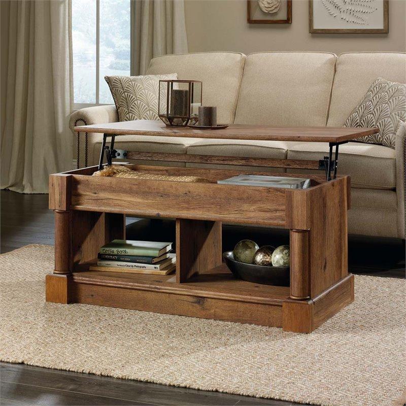 Sauder Palladia Lift Top Coffee Table Vintage Oak Finish By