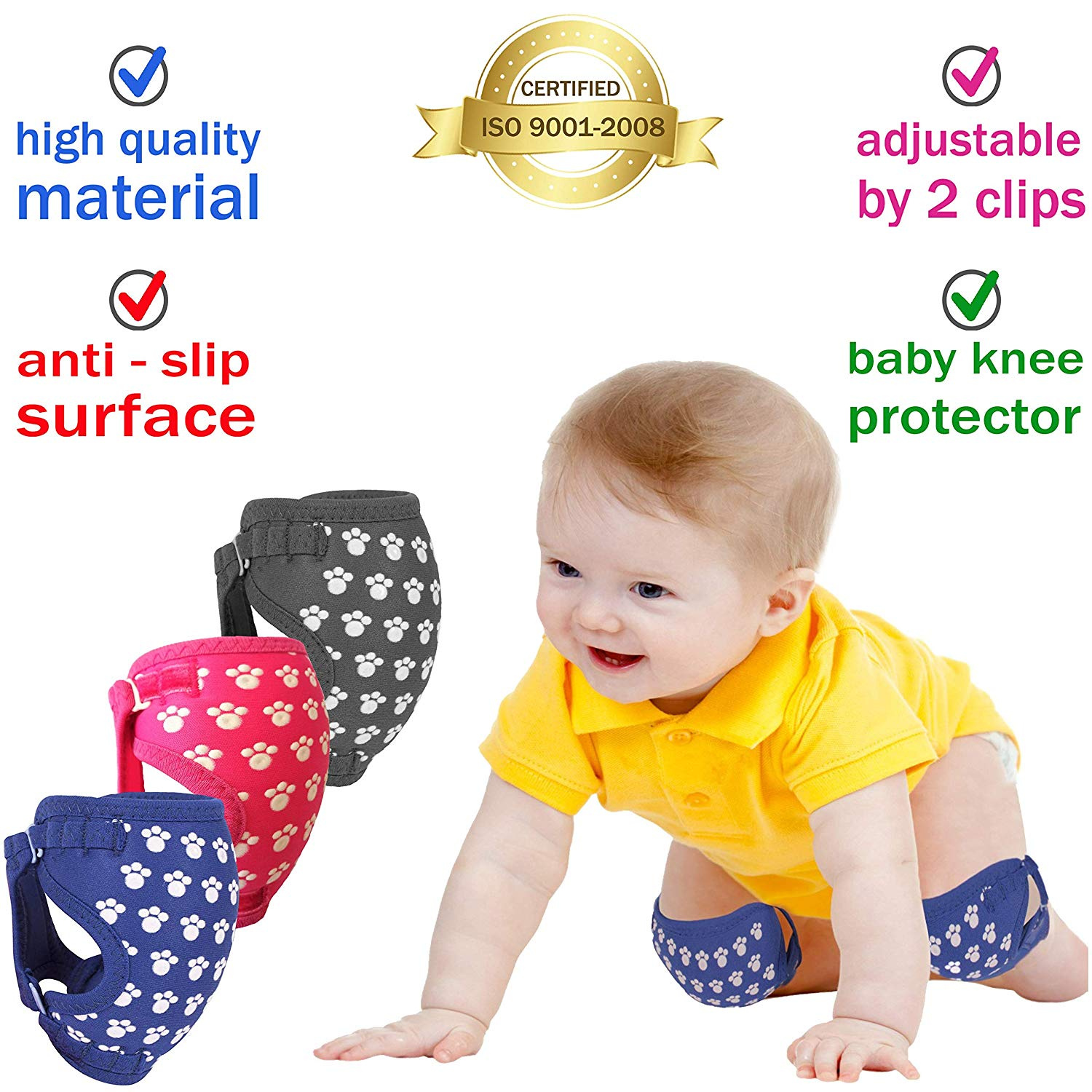 Vanpower Cartoon Safety Cotton Baby Knee Pads Crawling Protector
