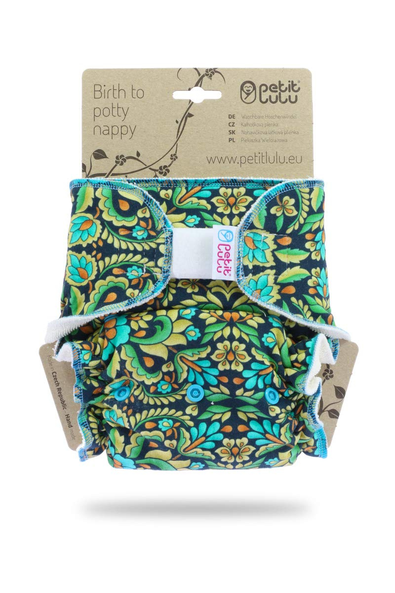 Snaps| Reusable /& Washable Paris Made in Europe Petit Lulu Bamboo Fitted Maxi-Night Diaper