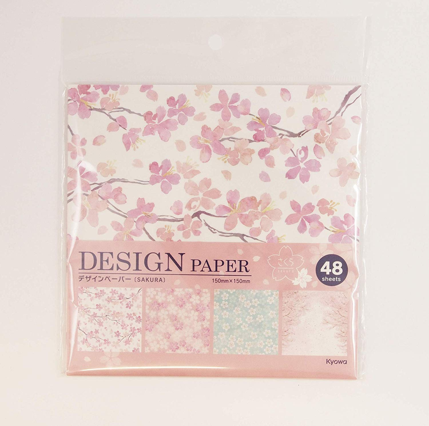 Sakura a.k.a. Chiyogami Each Contains Four Different Designs Beautiful Japanese Origami Paper Cherry Blossoms Made in Japan
