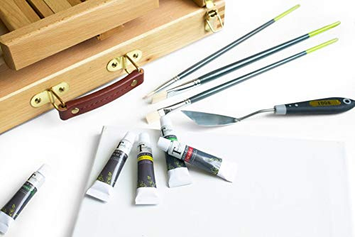 Hemobllo Painting Spatula Wood Handle Palette Mixing Scraper for Oil Paint Color Mixing