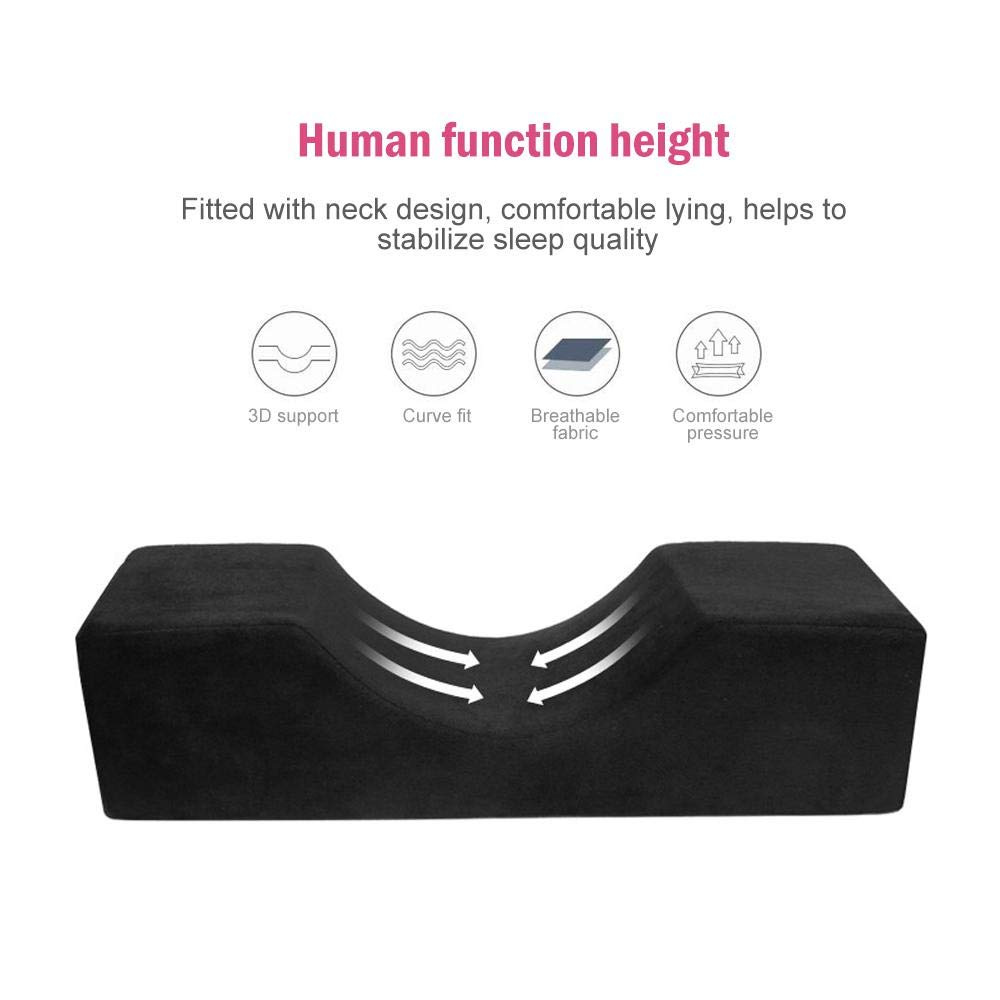 UK Memory Foam Eyelash Extension Pillow Ergonomic Curve Improve Sleeping Pillows