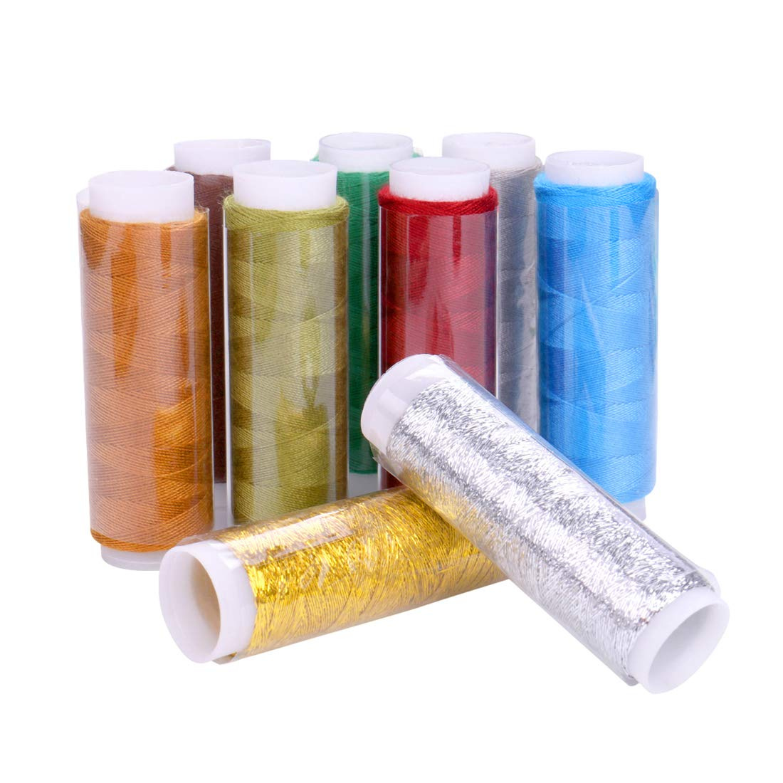 Luxbon Pack Of 39 Spools Rainbow Assorted Colour Colors Polyester Sewing Thread