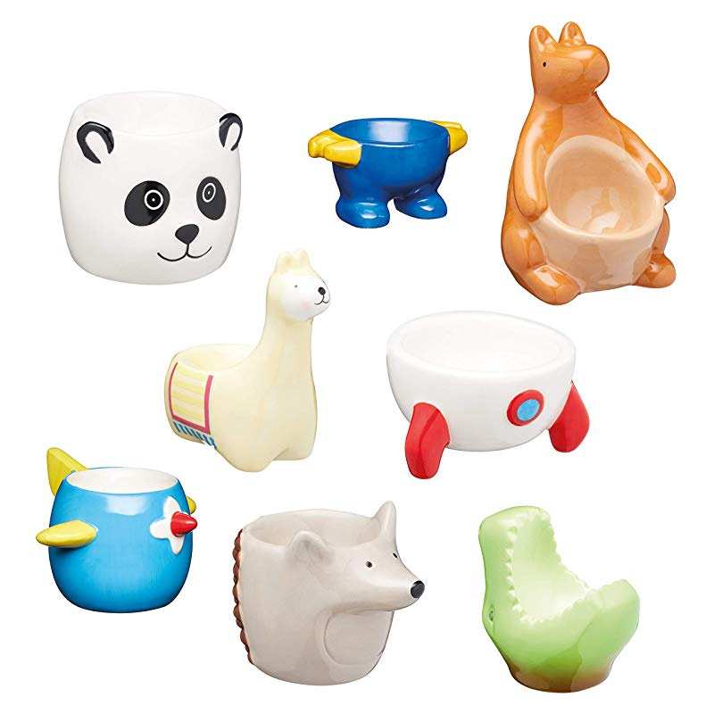 KitchenCraft Ceramic Dinosaur-Shaped Novelty Egg Cup 3 x 2 x 3 7 x 5 x 7 cm - Green