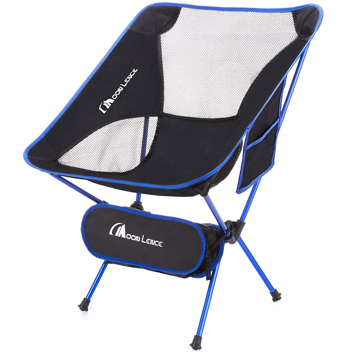 Moon Lence Outdoor Ultralight Portable Folding Chairs With Carry Bag Heavy Duty 110kg Capacity Camping Folding Chairs Beach Chairs