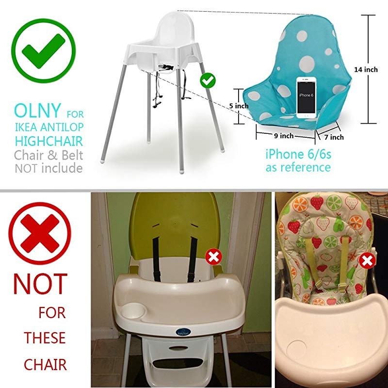 ZARPMA Baby 2 Point Safety Belt,Safety Harness for Child Kid Safe Strap for Old Version IKEA Antilop High Chair