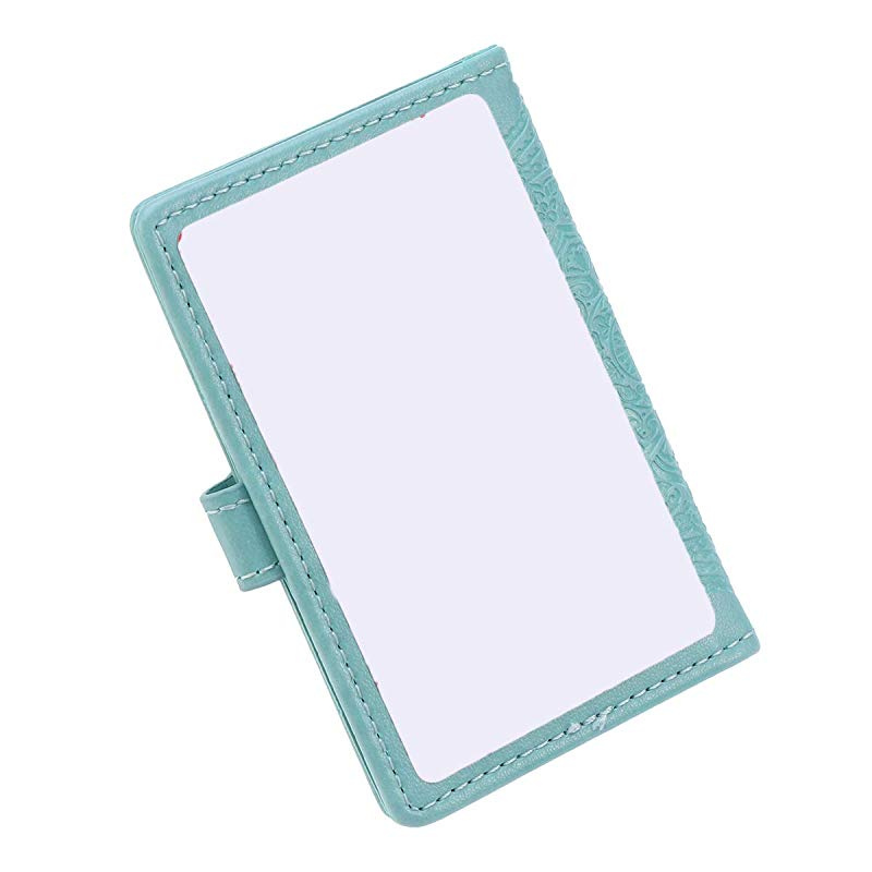 Random Color Teensery 4 Pcs Soft PU Leather Rotatable Credit Card Holder with Snap Button 10 Card Slots for ID Card Badge Storage