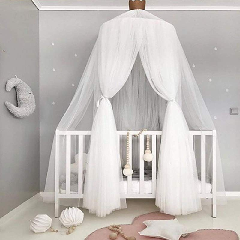 BATTILO HOME Kids Bed Canopy Hanging Mosquito Net for Baby Crib Nook Castle Game Tent Nursery Play Room Decor