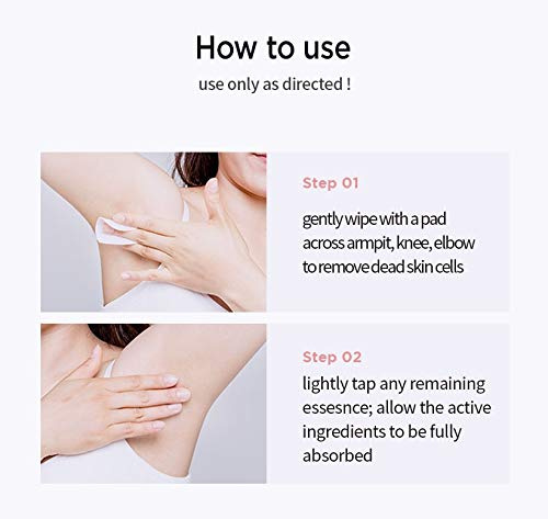 Kaimeng Hair Removal Pads for Smooth Skin on Legs Arm Face Top Lip Hair Remover Set of 40