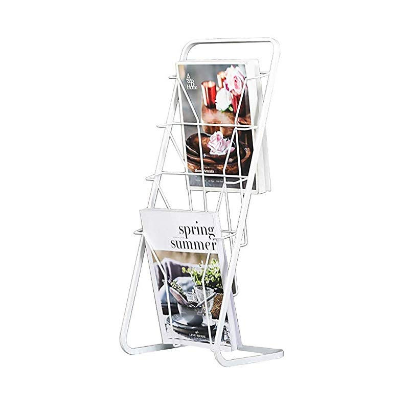 File Holder Iron Creative Newspaper Rack Promotional Display Shelf