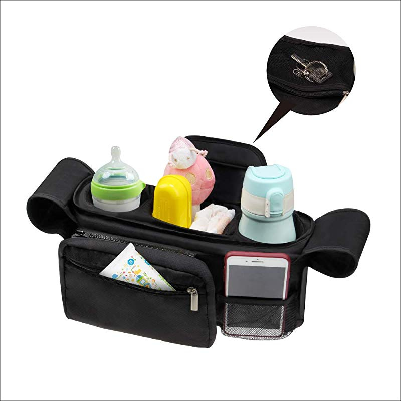 Wheelchairs Chengstore Waterproof Pram Cup Holder Universal Insulated Bottle Drink Cup Holder Pocket Bag for Baby Strollers Shopping Carts Bikes