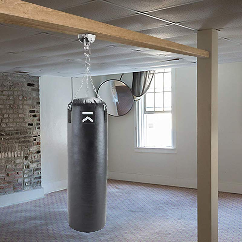 Rfvtgb Punching Bag Hanger Steel Swivel Ceiling Mount for Beam Heavy Bag,Gym Swing,Trapeze,Hammock
