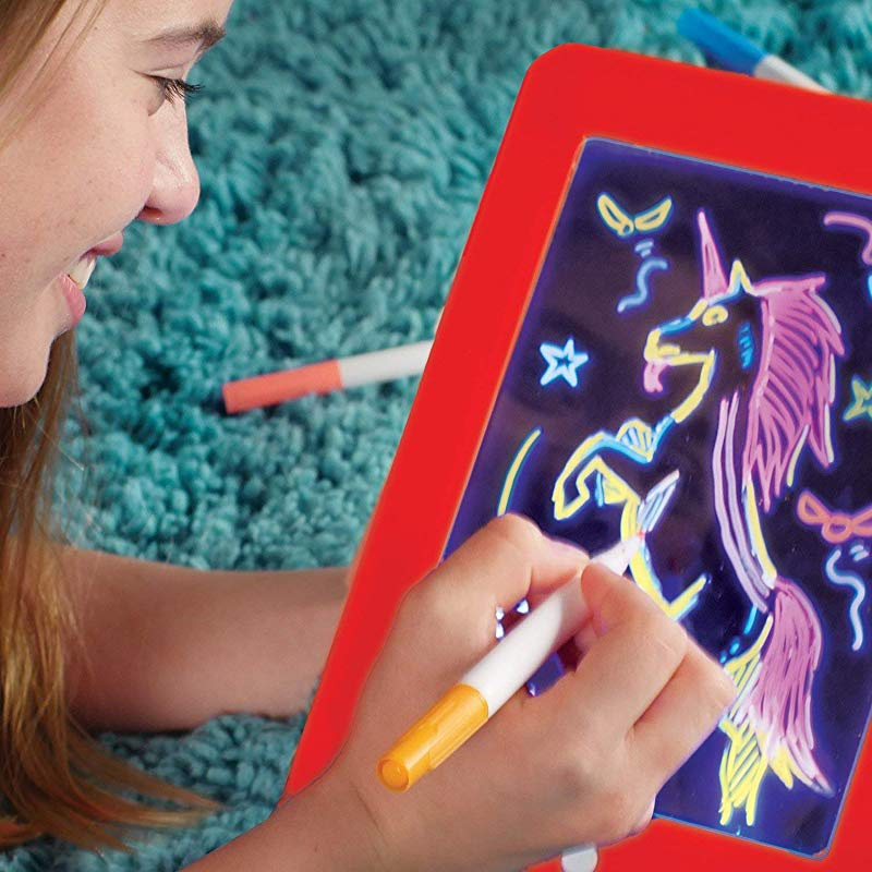 Ayebeau Kids Lcd Writing Tablet 25cm Writing Doodle Board 3d Led Pad Light Up Magic Drawing Pad Toys By Ayebeau Shop Online For Toys In New Zealand