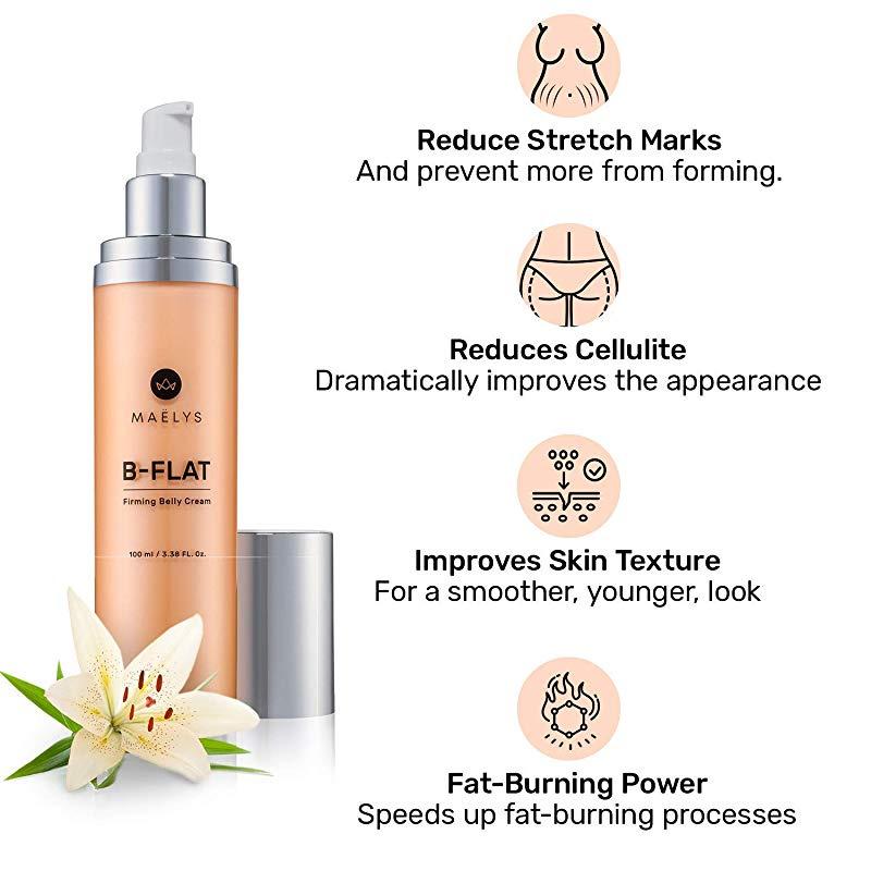 B Flat Cellulite Stretch Marks Firming Cream By Maelys Cosmetics