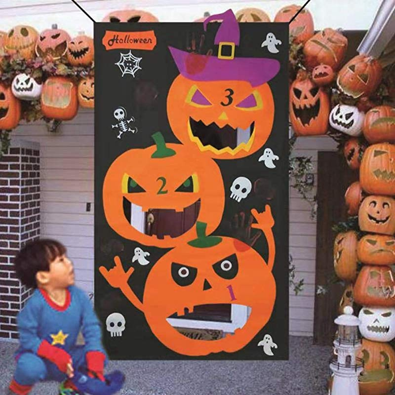 Fantastic Guihe Pumpkin Bean Bag Toss Games With3 Bean Bags Halloween Felt Games For Kids Party Halloween Diy Decorations Onthecornerstone Fun Painted Chair Ideas Images Onthecornerstoneorg