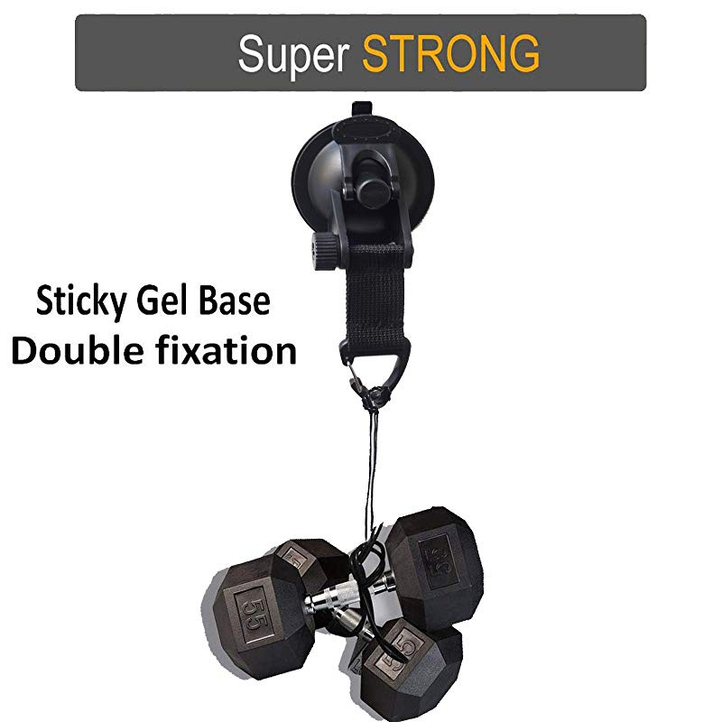 Suction Cup Tie Downs Heavy Duty Self-sticking Double suction Suction Anchor Suction Cup with Straps For Car roof Boat Kayak SUP Trailer Transom Easy Tie Down Suction Strap Hook Holder 2 pack
