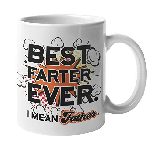 Worlds Best Father Farter Fathers Day Mug Dad Daddy Father Birthday Present Gift