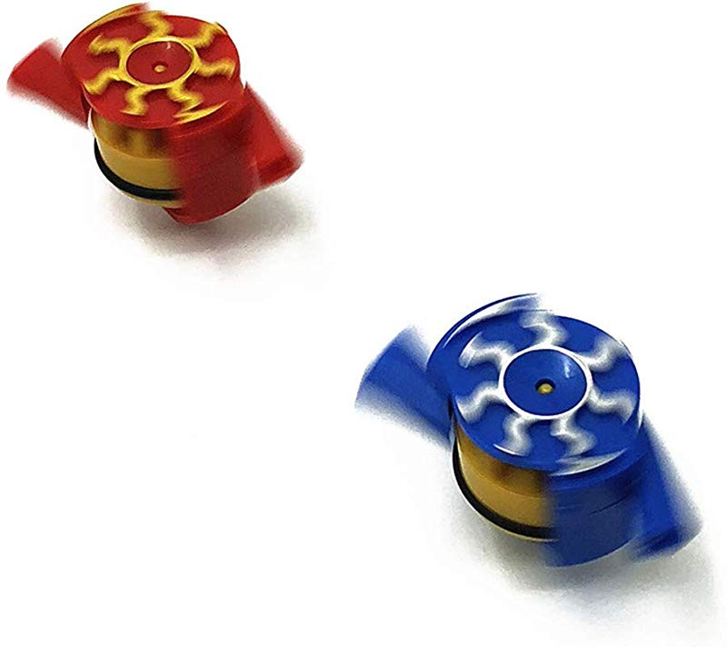 sky blue Desktop Gyro Noxus Airflow Spinning Top Wind Blow Turn Gyro Desktop Decompression Toys Wind Gyro Stress Relief Toy