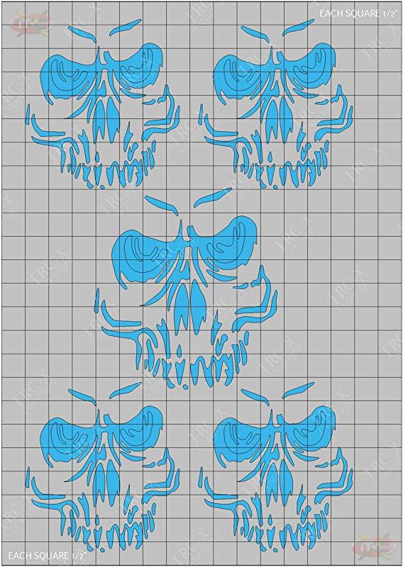 TRC8076 Ghost Skull Design Paint Mask RC Body Vinyl Paint Mask Stencils Airbrush R//C