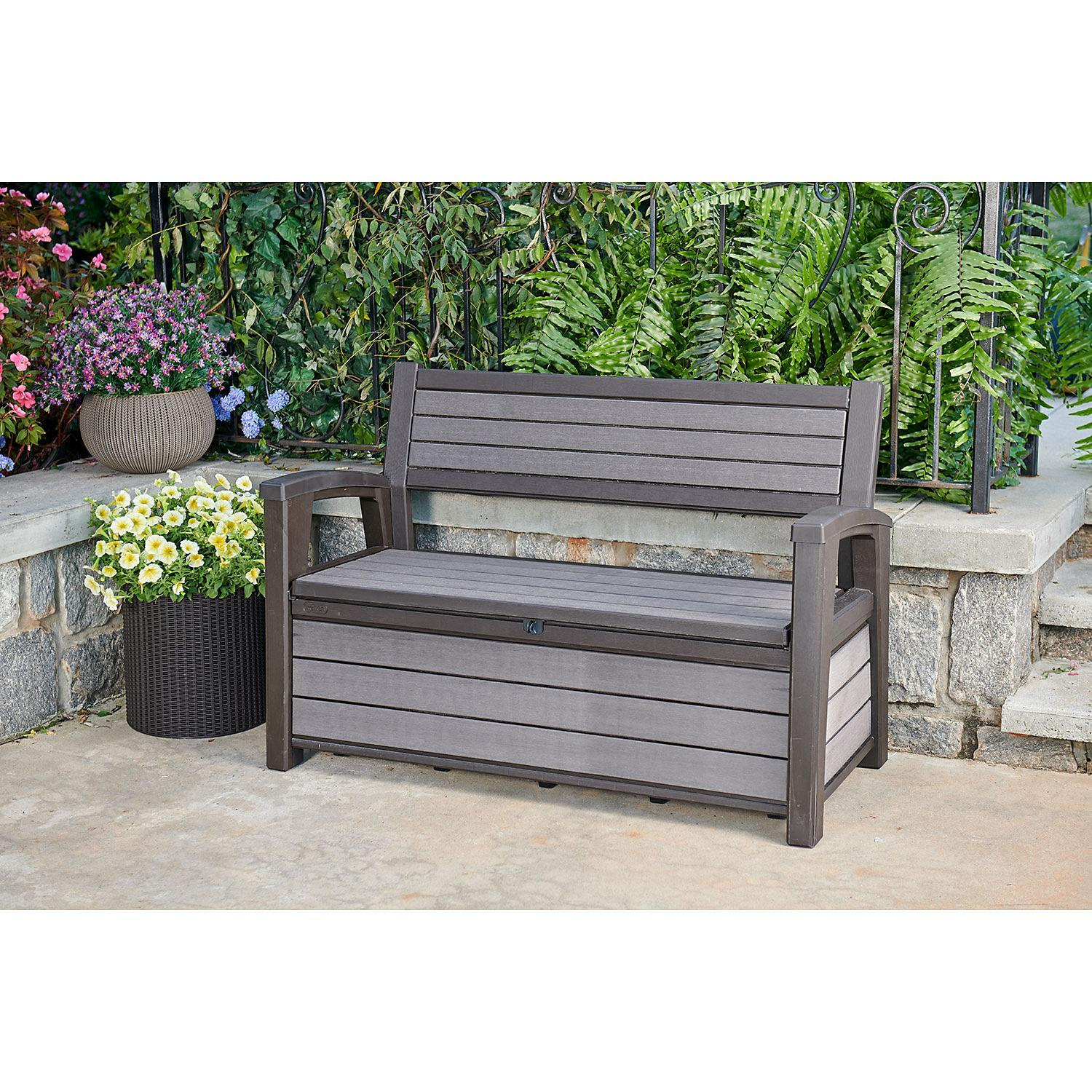 Image of: Keter Hudson Plastic Storage Bench 227 1l Deck Box By Keter Shop Online For Homeware In New Zealand