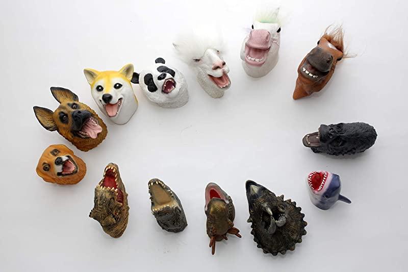 Yolococa Dragon Hand Puppet Realistic Latex Animal Head Hand Puppets