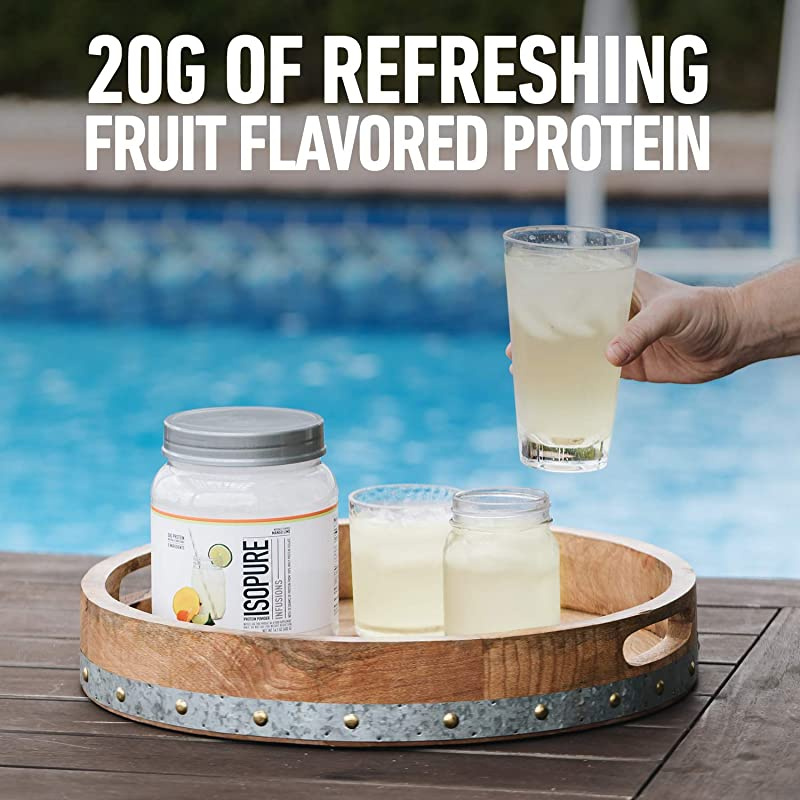 Isopure Infusions Refreshingly Light Fruit Flavoured Whey Protein Isolate Powder Shake Vigorously Infuses In A Minute Citrus Lemonade 36 Servings 940ml By Isopure Shop Online For Health In New Zealand